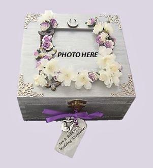 Photo Frame Wedding Keepsake Box sistersofthemoon.org.uk