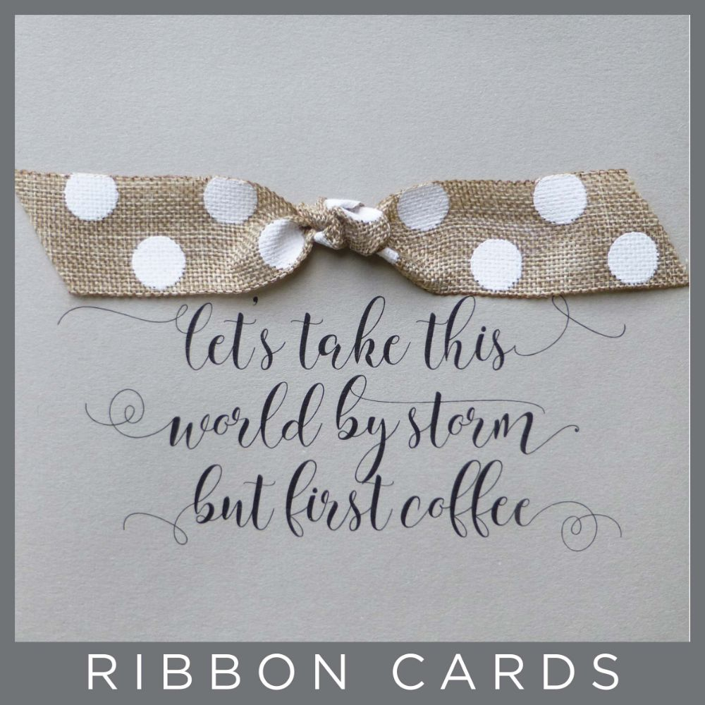 Ribbon cards