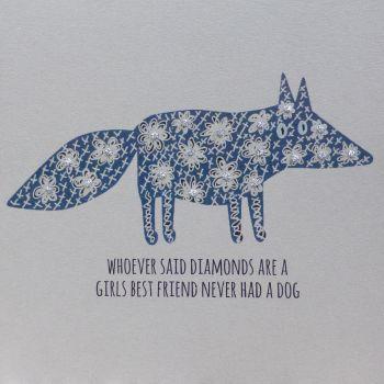 Dog | Flowers-Diamonds, Clay