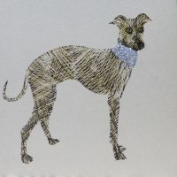 Dog | Glitter Greyhound, clay board