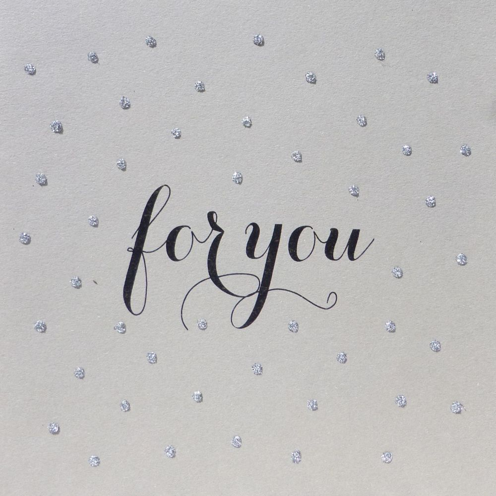 Glitter Dots| For you, Clay board