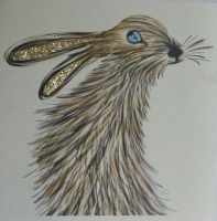 Hare Too, clay board
