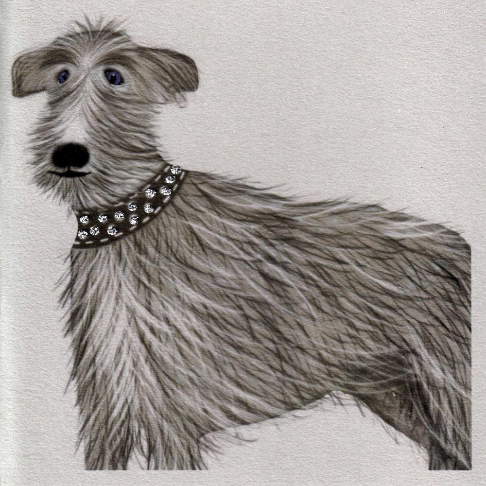 Dog | Glitter Wolfie, clay