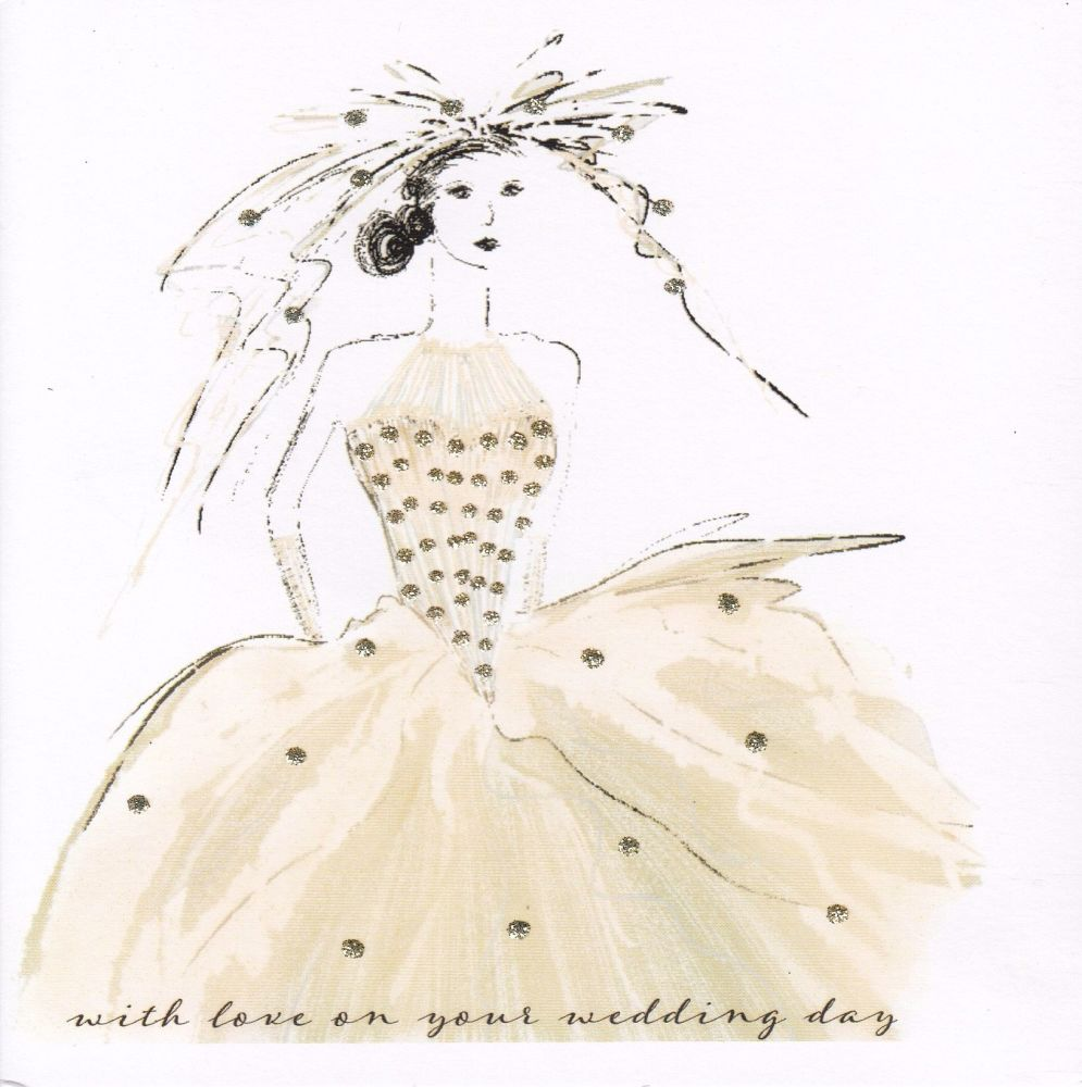 Vintage Wedding Dress, Gold