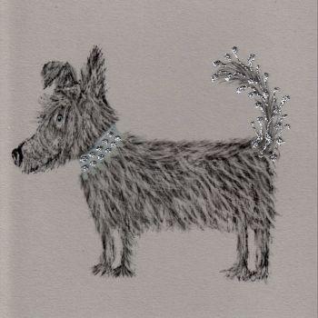 Dog   Glitter Pooch clay board