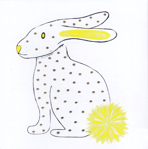 Rabbit  | White & Yellow