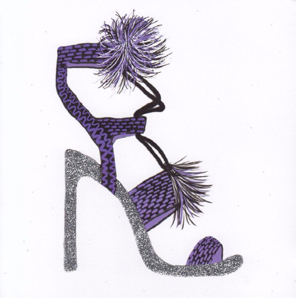 Sparkling Heels, Purple