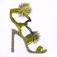 Sparkling Heels, Yellow - 133W