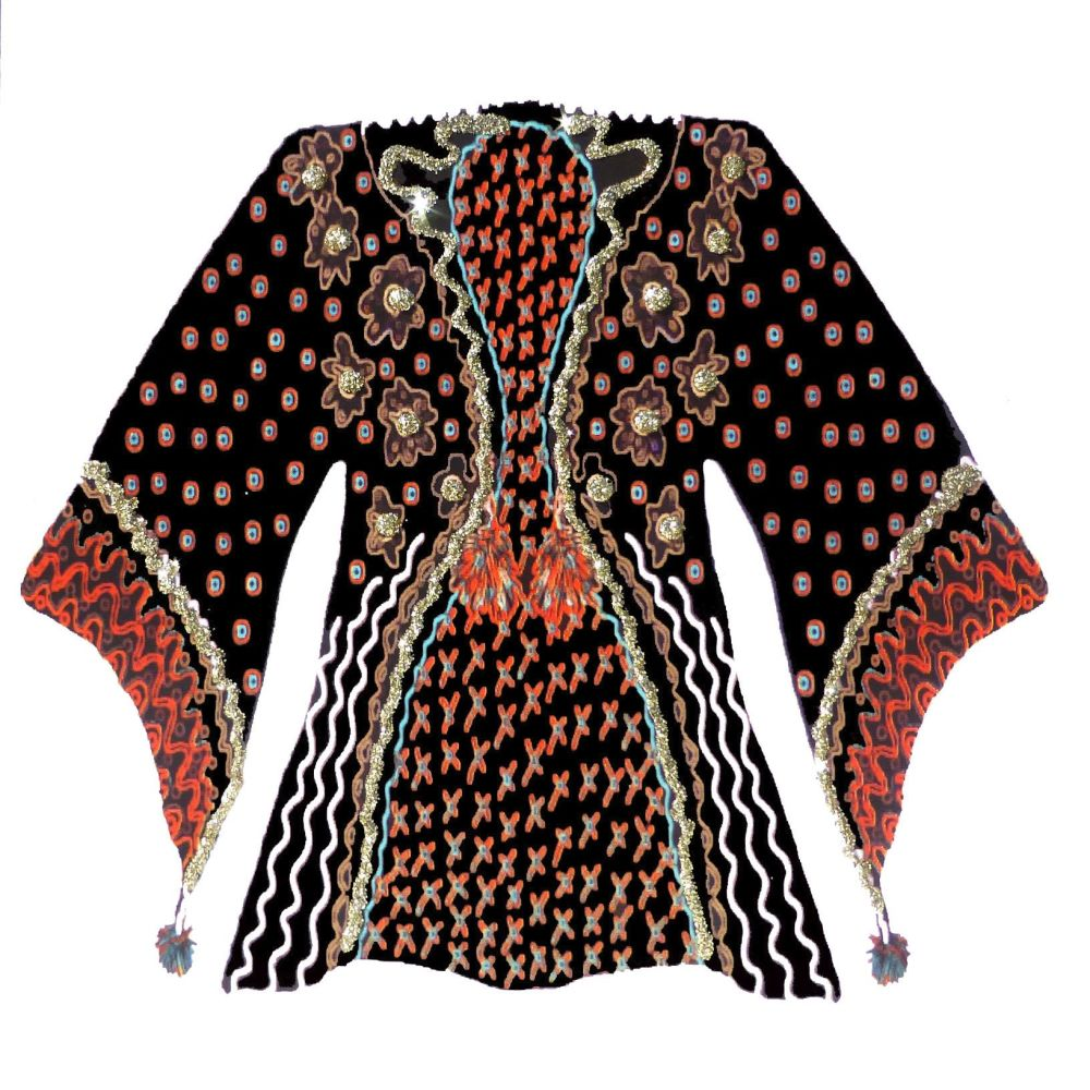 Kimono | Black and Gold Kimono