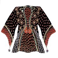 Black and Gold Kimono - 166G