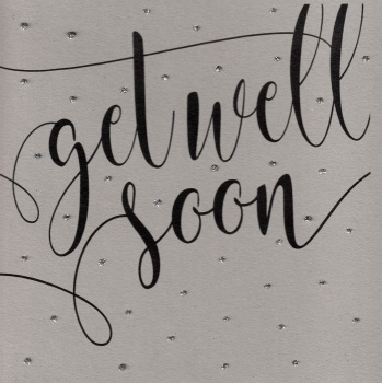 Glitter Dots  XL  |  Get well soon