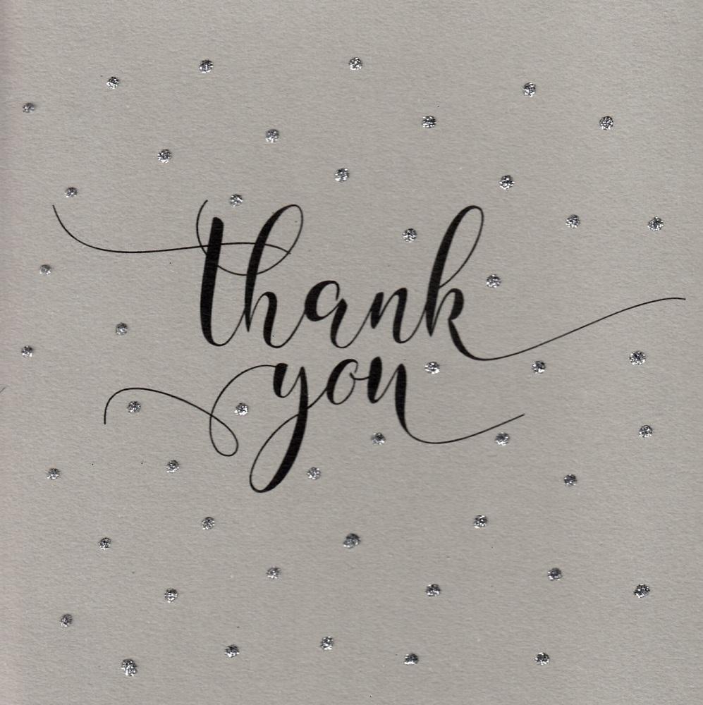 Glitter Dots  |  Thank you