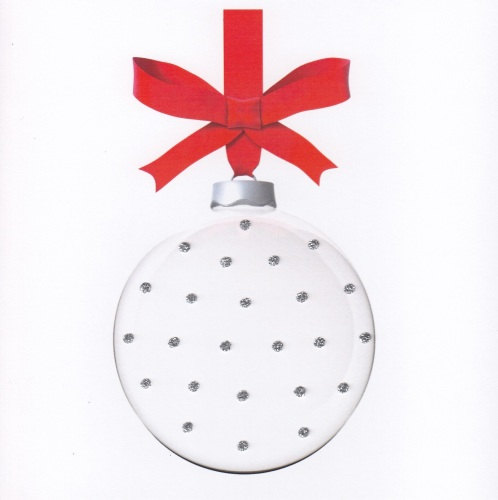 Christmas   Bauble Clear Sparkling