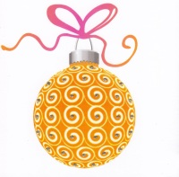 Christmas | Bauble, Dazzling Orange