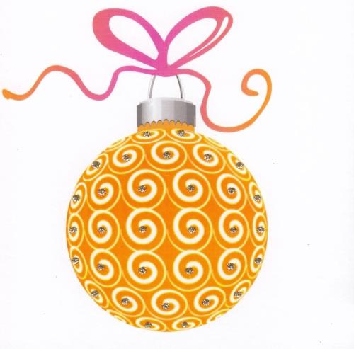 Christmas | Bauble, Dazzling Orange