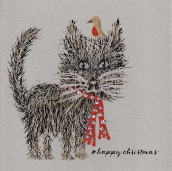 Christmas | Cat, Glitter Whiskers, clay