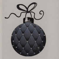 Christmas | Bauble, Black Quilted Sparkling, clay