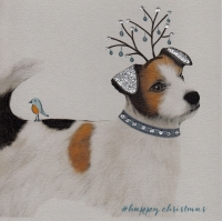 Christmas | Dog, Jack Russell 2, clay