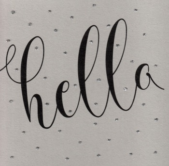 Glitter Dots  XL  |  Hello