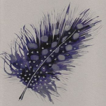 Feather | Spotted Purple, clay