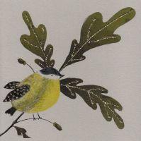 Autumn Oak & Bird, clay - 196C