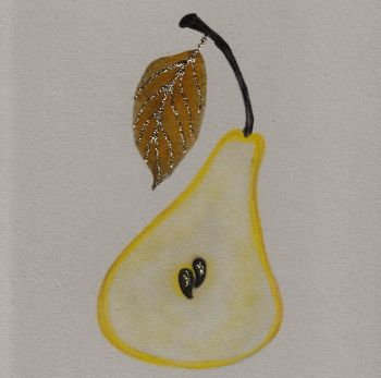 Autumn Pear, clay