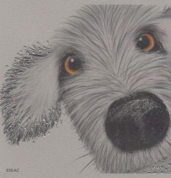 Dog   Glitter Spike, up close, clay
