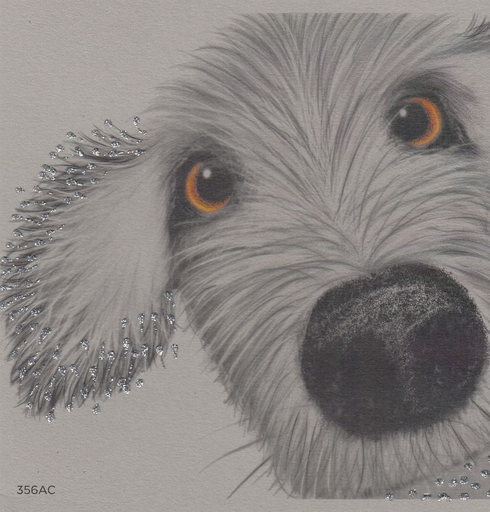 Dog | Glitter Spike, up close, clay