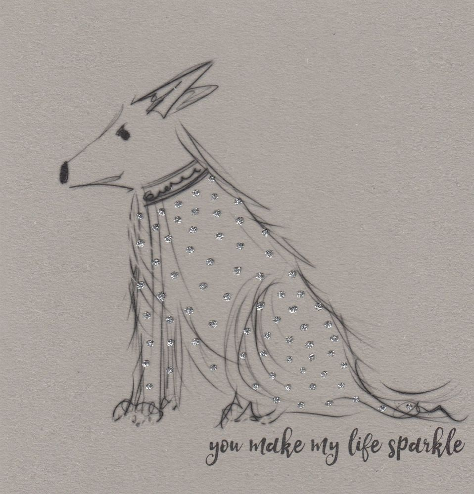 Black & Grey Dog | You make my life sparkle