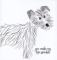 Dog | Ruby You make my life sparkle too, gesso