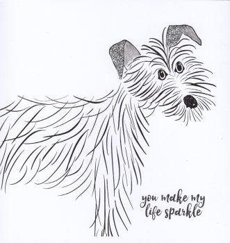 Dog | Ruby You make my life sparkle too, gesso