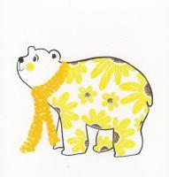 Bear | Floral Polar Bear