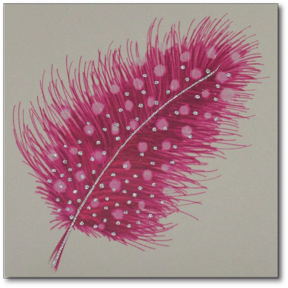 Feather | Spotted Pink, clay