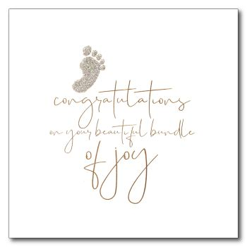 Baby News | Gold Foil, Silver Glitter Foot