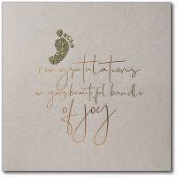 Baby News | Copper Foil, Gold Glitter Foot - 071FC