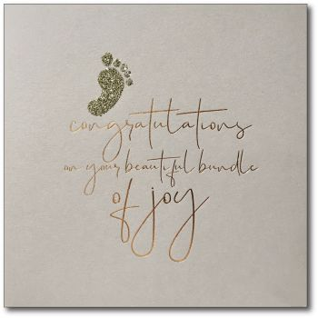 Baby News | Copper Foil, Gold Glitter Foot
