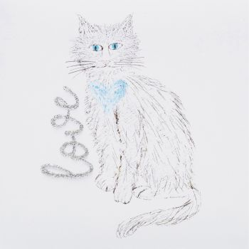 Love cat white