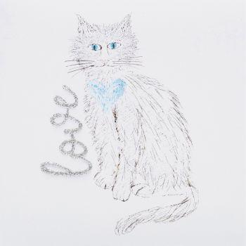 Love cat white - 326W