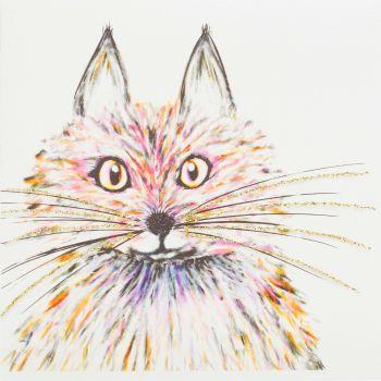 Fluffy cat Pink