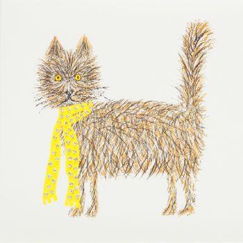 Scruffy cat - 349W