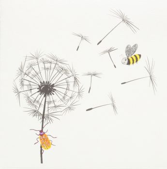 Dandelion Fluff Bees and Bugs