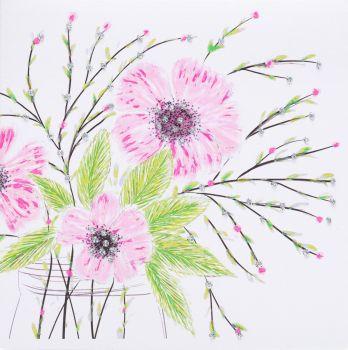 Flower Jar Pink - 284AW