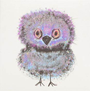 Owl Chick Purple