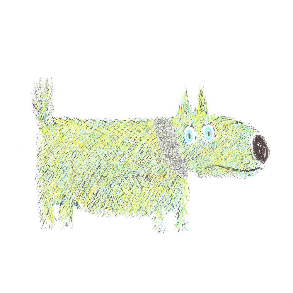 Green Sausage Dog