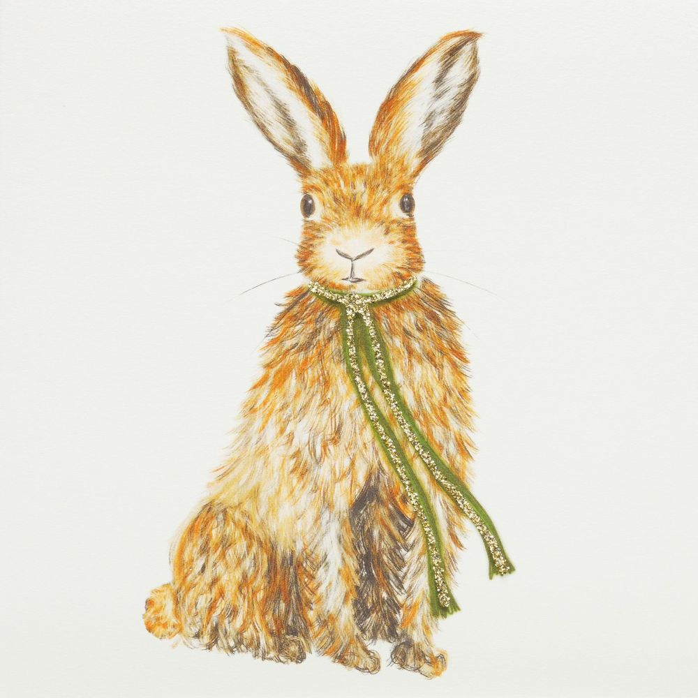 Hare with scarf