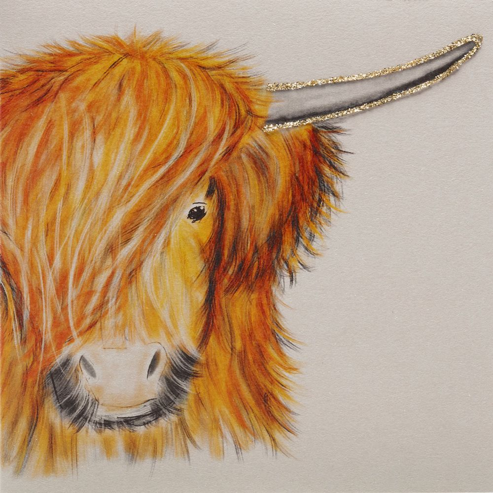 Golden Highland Cow clay