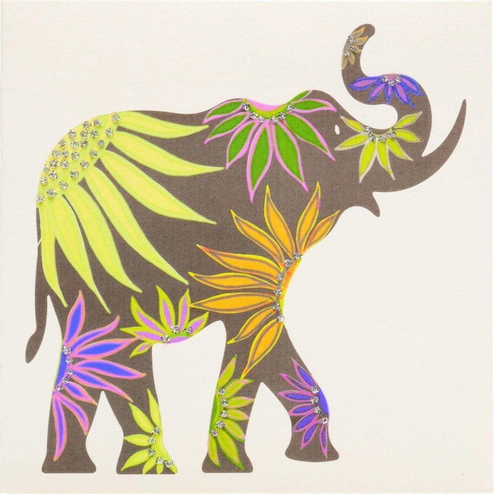Elephant ( Green floral)