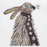 Hare Two ( scarf ) - 344SG