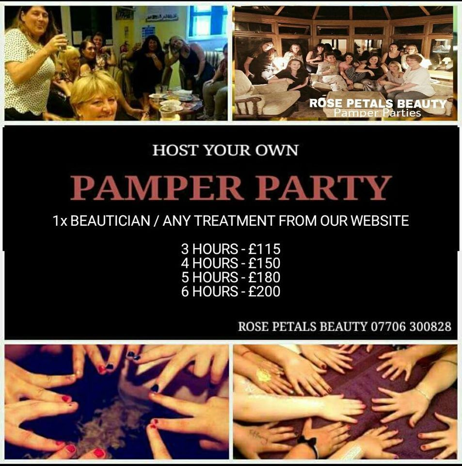 pamper party flyer per hour