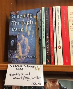 Sleeping Through War at Waterstones